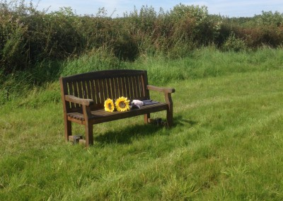 A place to sit and quietly remember